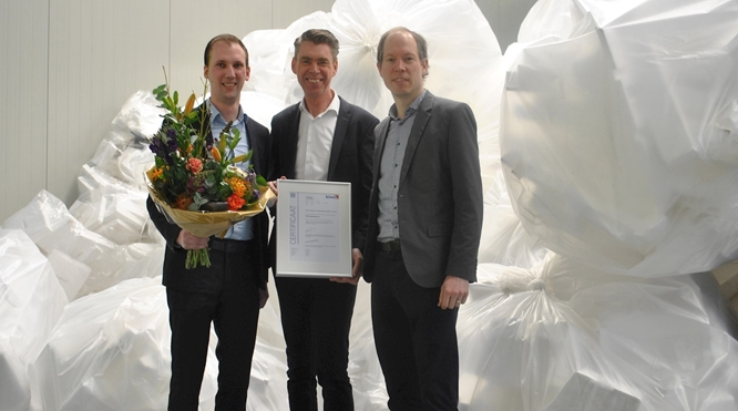 Kiwa has issued the first certificate of the Circular performance to recycling company EPS-Nederland